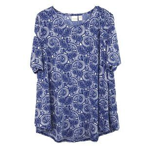 Chico's Floral Blooms Easy Shirttail Top 3 (XL)